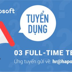 Tuyển dụng 03  Fulltime Testers